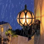 Mur Extérieur Lanterne Vintage Noir Applique Mur Étanche IP54 Fonte D'aluminium Et Verre Applique Murale Rétro E27 Jardin Rustique Entrée Maison Cour Mur D'éclairage 27.5 * 18 * 31Cm de la marque HONY-LIGHT image 2 produit