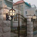 Mur Extérieur Lanterne Vintage Noir Applique Mur Étanche IP54 Fonte D'aluminium Et Verre Applique Murale Rétro E27 Jardin Rustique Entrée Maison Cour Mur D'éclairage 27.5 * 18 * 31Cm de la marque HONY-LIGHT image 3 produit