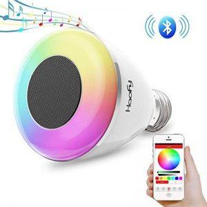 Musique Ampoule, Haofy E27 Ampoule LED Bluetooth 4,0 avec Haut-Parleur,Ampoule à Led Intelligente APP Contrôle Télécommande Compatible avec iPhone iOS, Android Smartphone pour Festival Parti Lumière de l'atmosphère de la marque Haofy image 0 produit