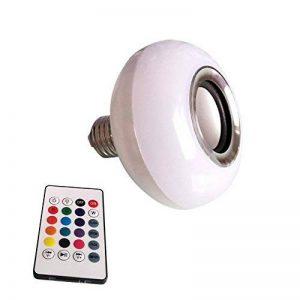Musique ampoule LED, ampoules Aolvo musical enceinte Bluetooth 6W E27RGB Lampe à changement de couleur avec télécommande de la marque Aolvo image 0 produit