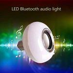 Musique ampoule LED, ampoules Aolvo musical enceinte Bluetooth 6W E27RGB Lampe à changement de couleur avec télécommande de la marque Aolvo image 1 produit