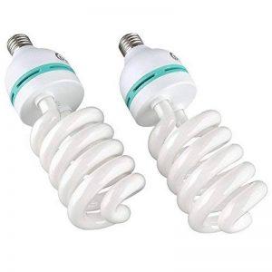 MVPOWER Lot de 2 x 135W E27 Ampoules Lampe de Photographie Lumière du Jour pour Photo Studio Vidéo Daylight Bulb 220V 5500K (2 Pcs) de la marque MVPower image 0 produit
