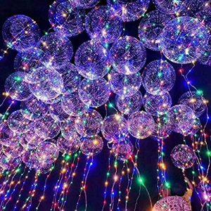 Mystery&Melody Le ballon de Bobo de LED allume des décorations réutilisables de lampes pour des lumières de chaîne lumineuses de fête d'anniversaire de festival (10PCS) de la marque Mystery&Melody image 0 produit