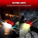 N8 Eclairage Avant,SHENKEY USB Rechargeable LED Phare Lampe pour Vélo Puissante,4000 mAh/1000 Lumens Lumière Multi Modes d'éclairage Antichoc Impermeable IP65 de la marque N8 image 2 produit