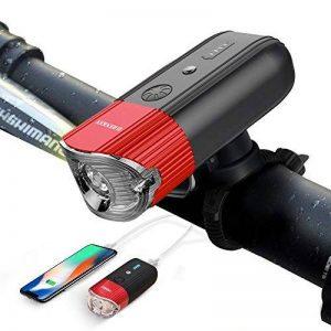 N8 Eclairage Avant,SHENKEY USB Rechargeable LED Phare Lampe pour Vélo Puissante,4000 mAh/1000 Lumens Lumière Multi Modes d'éclairage Antichoc Impermeable IP65 de la marque N8 image 0 produit