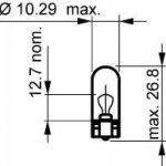 Narva–10x 171775W, 12V, 5W, 2,1W x 9,5D Ampoule à culot en verre de la marque Narva image 1 produit