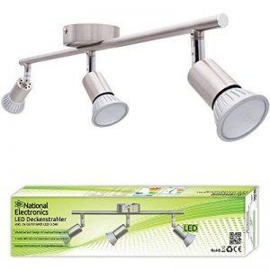 National Electronics GU10 3,5W 320lm LED spots avec 3 ampoules GU10 230V [Classe énergétique A++] de la marque National Electronics image 0 produit