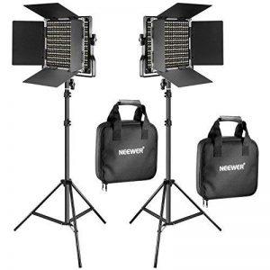 Neewer 2 Packs 660 LED Lumière Dimmable Bicouleur et Support d'Eclairage Kit Comprend: (2)3200-5600K CRI 96+ LED Panneau avec Support en U et Barndoor , (2)78,7 pouces Support de Lumière pour Studio Photographie Video Tournage de la marque Neewer image 0 produit