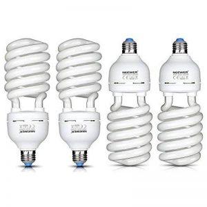 Neewer® 45W 220V 5500K tri-phosphor Ampoule spirale CFL ampoule lumière du jour équilibré en Douille E27Pour Éclairage Studio Photo et Vidéo (Lot de 4) de la marque Neewer image 0 produit