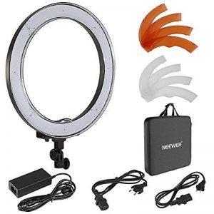 Neewer 55W SMD LED 5500K Lumière Anneau Dimmable pour Photo et Vidéo, Diamètre Extérieur de 48 centimètres 240 LED Ampoules avec Filtre de Couleur de la marque Neewer image 0 produit