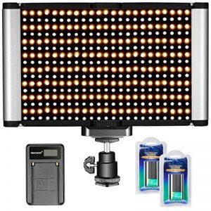 Neewer Kit de LED Lampe Vidéo Dimmable Bicolore sur Caméra, 280 LED Ampoules, 3200-5600K, CRI 95+, pour Photographie de Portrait et de Produit, Studio, Tournage de YouTube Vidéo Extérieure de la marque Neewer image 0 produit