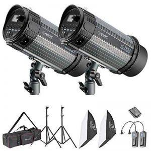 Neewer Kit de Lumière Photo Studio Strobe Flash et Softbox: (2) 250W Flash Monolight, (2)Support de lumière, (2)Softbox, (1)RT-16 Déclencheur Sans Fil, (1)Sac pour Tournage de Video, Photographie de Portrait ((2)250W) de la marque Neewer image 0 produit