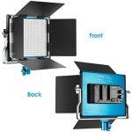 Neewer Lumière Panneau LED Bicouleur Lampe Vidéo pour Studio, Youtube, Photographie de Produit, Tournage Vidéo, 660 Ampoules Réglables, avec Support en U et Coupe-Flux, 3200-5600K, CRI 96+ (Bleu) de la marque Neewer image 3 produit
