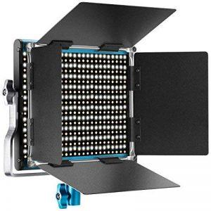 Neewer Lumière Panneau LED Bicouleur Lampe Vidéo pour Studio, Youtube, Photographie de Produit, Tournage Vidéo, 660 Ampoules Réglables, avec Support en U et Coupe-Flux, 3200-5600K, CRI 96+ (Bleu) de la marque Neewer image 0 produit