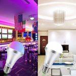 NetBoat Ampoule LED Couleur E27 10W Changement de Couleur Dimmable LED Bulbs 12 choix de couleurs,21 key Télécommande Compris pour Accueil/ Décoration/ Bar/ Fête/ KTV Humeur Éclairage ambiant de la marque DaSinKo image 1 produit