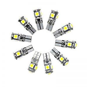 Neuftech 10PCS Lampes Ampoule Phare LED Veilleuse Canbus Sans Erreur W5W T10 5050 5-SMD LED Blanc de la marque Neuftech image 0 produit