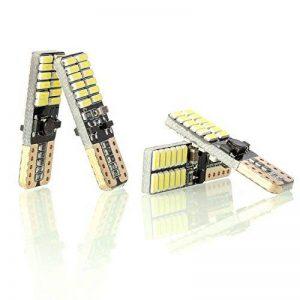 Neuftech 4x T10 W5W 4014 SMD 24 LED Veilleuse Canbus Sans Erreur - Blanc de la marque Neuftech image 0 produit
