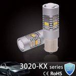 Ngcat 1800lumens 14SMD 3020CREE 1156BA15S 1141ampoules LED 7506pour voitures de direction Signal ampoules Lampes de feux stop, DC 10–16V Xenon Blanc (2-Pack) de la marque NGCAT image 4 produit