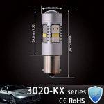 Ngcat 1800lumens 14SMD 3020CREE 1156BA15S 1141ampoules LED 7506pour voitures de direction Signal ampoules Lampes de feux stop, DC 10–16V Xenon Blanc (2-Pack) de la marque NGCAT image 2 produit