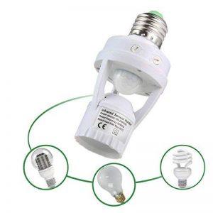 niceEshop(TM) Douille E27 avec Détecteur de Mouvement 360° Automatique Lumière Infrarouge pour Ampoule LED E27 à Visser (Blanc) de la marque niceEshop image 0 produit