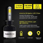 NIGHTEYE 2 x 72W 9000LM H1 LED Phare Auto Car Lampe Feux Conversion Ampoule Light 6500K - 3 ans de garantie de la marque NIGHTEYE image 1 produit