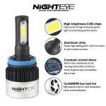 NIGHTEYE 2X 72W 9000LM H11 LED Phare Auto Car Lampe Feux Conversion Ampoule Light 6500K - 3 Ans de Garantie de la marque NIGHTEYE image 3 produit