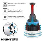 NIGHTEYE 2X 72W 9000LM H11 LED Phare Auto Car Lampe Feux Conversion Ampoule Light 6500K - 3 Ans de Garantie de la marque NIGHTEYE image 4 produit