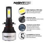 NIGHTEYE 2x 72W 9000LM H7 LED Phare Auto Car Lampe Feux Conversion Ampoule Light 6500K - 3 ans de garantie de la marque NIGHTEYE image 2 produit