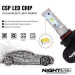 NIGHTEYE Voiture Ampoules LED Phare - 9005 / HB3 50w 8000LM / Set 6500K Blanc Froid - Garantie de fabrication de 3 ans de la marque NIGHTEYE AUTO LIGHTING image 2 produit