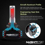 NIGHTEYE Voiture Ampoules LED Phare - 9005 / HB3 50w 8000LM / Set 6500K Blanc Froid - Garantie de fabrication de 3 ans de la marque NIGHTEYE AUTO LIGHTING image 4 produit