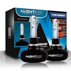 NIGHTEYE Voiture Ampoules LED Phare - H1 H4 H7 50w 8000LM / Set 6500K Blanc Froid - Garantie de fabrication de 3 ans (H1) de la marque NIGHTEYE image 0 produit
