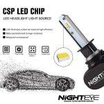 NIGHTEYE Voiture Ampoules LED Phare - H1 H4 H7 50w 8000LM / Set 6500K Blanc Froid - Garantie de fabrication de 3 ans (H1) de la marque NIGHTEYE image 2 produit