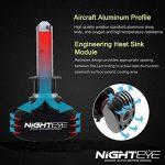 NIGHTEYE Voiture Ampoules LED Phare - H1 H4 H7 50w 8000LM / Set 6500K Blanc Froid - Garantie de fabrication de 3 ans (H1) de la marque NIGHTEYE image 4 produit