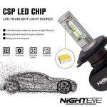 NIGHTEYE Voiture Ampoules LED Phare - H1 H4 H7 50w 8000LM / Set 6500K Blanc Froid - Garantie de fabrication de 3 ans (H4) de la marque NIGHTEYE image 2 produit