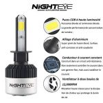 NIGHTEYE Voiture Ampoules LED Phare - H1 H4 H7 72w 9000LM / Set 6500K Blanc Froid - Garantie de fabrication de 3 ans (H1) de la marque NIGHTEYE image 3 produit