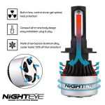 NIGHTEYE Voiture Ampoules LED Phare - H1 H4 H7 72w 9000LM / Set 6500K Blanc Froid - Garantie de fabrication de 3 ans (H7) de la marque NIGHTEYE image 3 produit