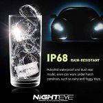 NIGHTEYE Voiture Ampoules LED Phare - H1 H4 H7 72w 9000LM / Set 6500K Blanc Froid - Garantie de fabrication de 3 ans (H7) de la marque NIGHTEYE image 4 produit