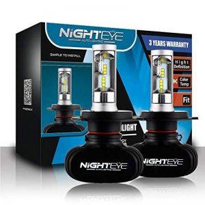 NIGHTEYE Voiture Ampoules LED Phare - H4 50w 8000LM / Set 6500K Blanc Froid - Garantie de fabrication de 3 ans de la marque NIGHTEYE AUTO LIGHTING image 0 produit