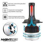 NIGHTEYE Voiture Ampoules LED Phare - H4 72w 9000LM / Set 6500K Blanc Froid - Garantie de fabrication de 3 ans de la marque NIGHTEYE AUTO LIGHTING image 4 produit