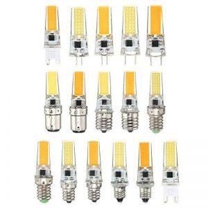 NIKU-G4 G8 E11 E12 E14 E17 BA15 Lampe led 220V Cordon de petites broches E14 2508s/n Light Source Crystal Light 5W 220V Ampoules LED Dimmable Light Source, BA15-White Light de la marque NIKUD image 0 produit