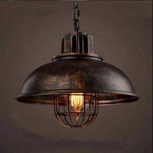 NIUYAO Lampe Suspension Lustre Abat-jour en Métal avec Grills Loft Style Chandelier Industriel Vintage Pendentif Lumière-Rouille de la marque NIUYAO image 0 produit