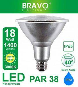 NOUVEAU IP65 Bravo Lighting PAR38 18W LED E27 Equivalent à 150 W Lampe halogène, 3000 K, blanc chaud de la marque BRAVO LIGHTING image 0 produit
