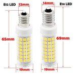 Nouveau type E12 ampoules LED 6 W équivalent à 75 W Ampoule halogène 95–240 V 360 degrés Blanc 6000 K (lot de 2) de la marque 1819 image 1 produit