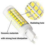 Nouveau type G9 ampoules LED 6 W équivalent à 75 W Ampoule halogène 95–240 V 360 degrés Blanc Froid 6000 K (lot de 2) de la marque 1819 image 4 produit