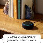 Nouvel Echo Dot (3ème génération), Tissu gris chiné + Amazon Smart Plug (Prise connectée WiFi), Fonctionne avec Alexa de la marque image 1 produit