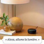 Nouvel Echo Dot (3ème génération), Tissu gris chiné + Amazon Smart Plug (Prise connectée WiFi), Fonctionne avec Alexa de la marque image 3 produit