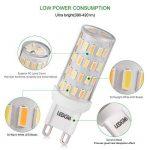 [Nouvelle Version] LEDGLE 5x Ampoules LED G9 6W Sans Scintillement 60-LED Equivalent à Ampoule Halogène 60W, 390-420lm 3 Températures de Couleur-Blanc Chaud /Blanc Naturel/ Lumière Naturelle de la marque LEDGLE image 2 produit