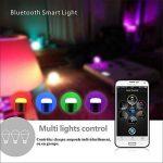 NOVAGO® Ampoule d'ambiance LED Bluetooth 4.0 - Ampoule connectée - Gérer vos éclairages de Lecture , Réveil , Fêtes , Musique ... à partir de votre Smartphone sous IOS ou Androïd. Nombreuses fonctions et couleurs. Norme E27/B22 6.0 W (Ampoule LED Bluetoot image 3 produit