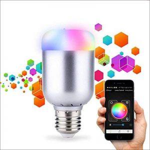 NOVAGO® Ampoule d'ambiance LED Bluetooth 4.0 - Ampoule connectée - Gérer vos éclairages de Lecture , Réveil , Fêtes , Musique ... à partir de votre Smartphone sous IOS ou Androïd. Nombreuses fonctions et couleurs. Norme E27/B22 6.0 W (Ampoule LED Bluetoot image 0 produit