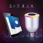 NOVAGO Ampoule d'ambiance LED Bluetooth 4.0 avec Enceinte intégrée - Ampoule connectée - Gérer vos éclairages de Lecture , Réveil , Fêtes , Musique ... à partir de votre Smartphone sous IOS ou Androïd. Nombreuses fonctions et couleurs. Norme E27 7.5W (Amp image 4 produit